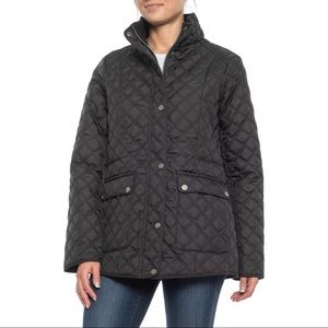 Lucky brand quilted coat black jacket short